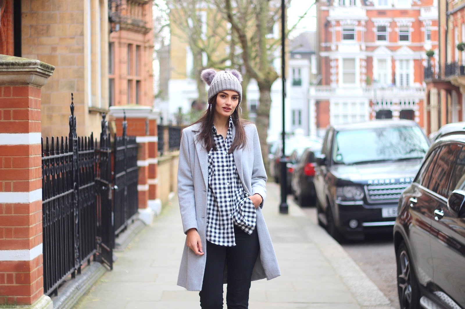gingham shirt peexo london street style