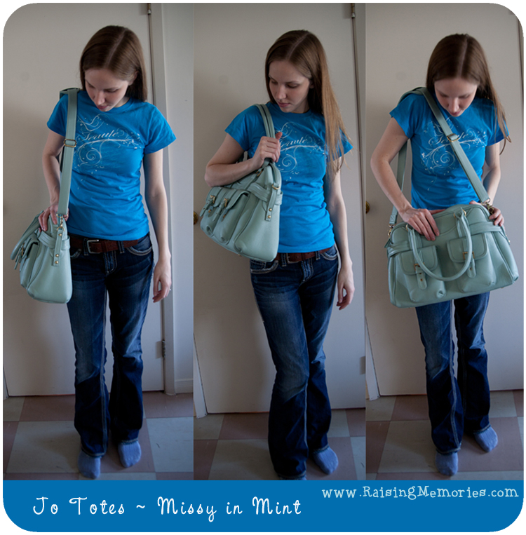 Wearing Jo Totes Missy Bag by www.RaisingMemories.com