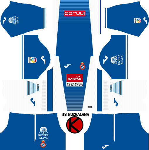 RCD Espanyol 2017 18 - Dream League Soccer Kits - Kuchalana cf766cbd1