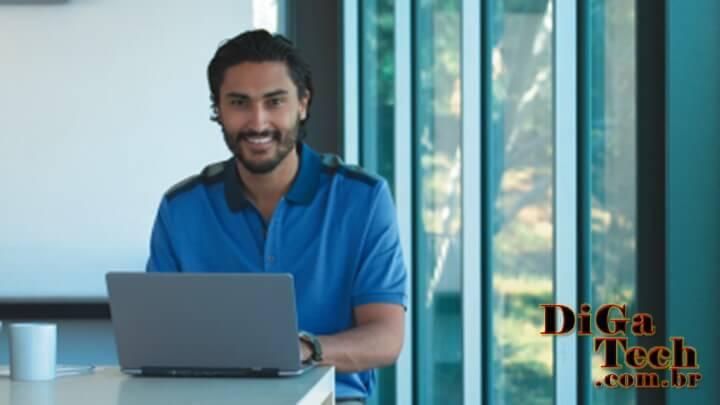 Mobilidade empresarial laptop