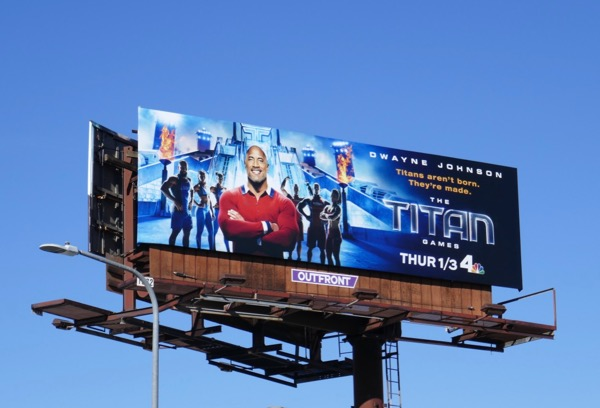 Titan Games NBC billboard