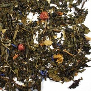 """Imaginea mixului de ceai Pai Mu Tan si Ming mey, ceai """"viata vesnica"""""""