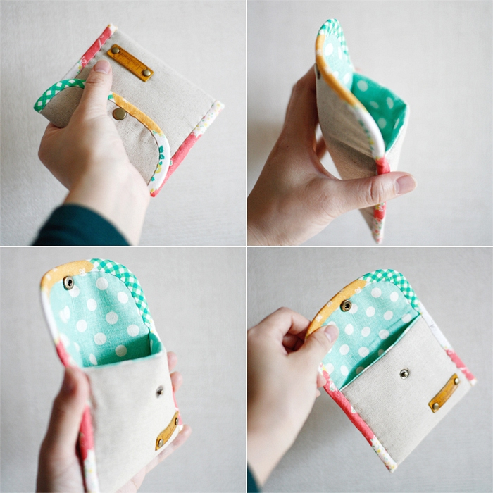 Coin Purse DIY tutorial in pictures. What a cute and simple idea.