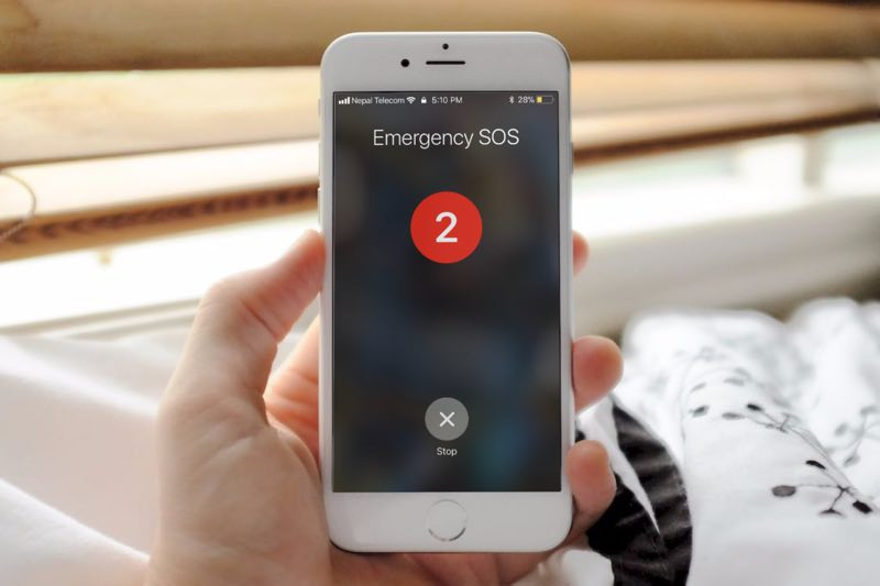 Here's a new function to make emergency SOS call in iOS 11 using power button or sleep/wake button on iPhone