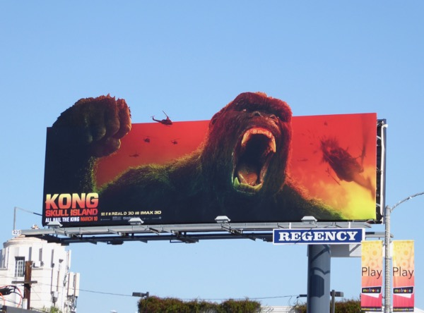 Kong Skull Island special extension billboard