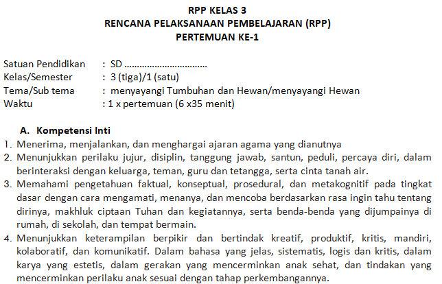 Kumpulan Rpp Dan Silabus Sd Kelas 3 Semester Ganjil Kurikulum 2013 Didno76 Com