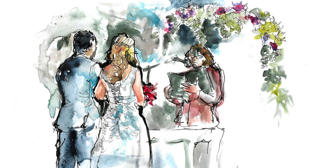Sketching At A Wedding