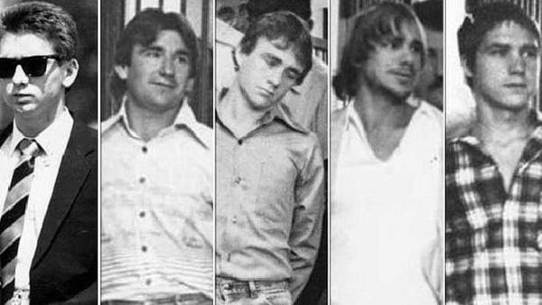 Từ trái qua phải: John Travers, Michael Murphy, Leslie Murphy, Gary Murphy and Michael Murdoch.