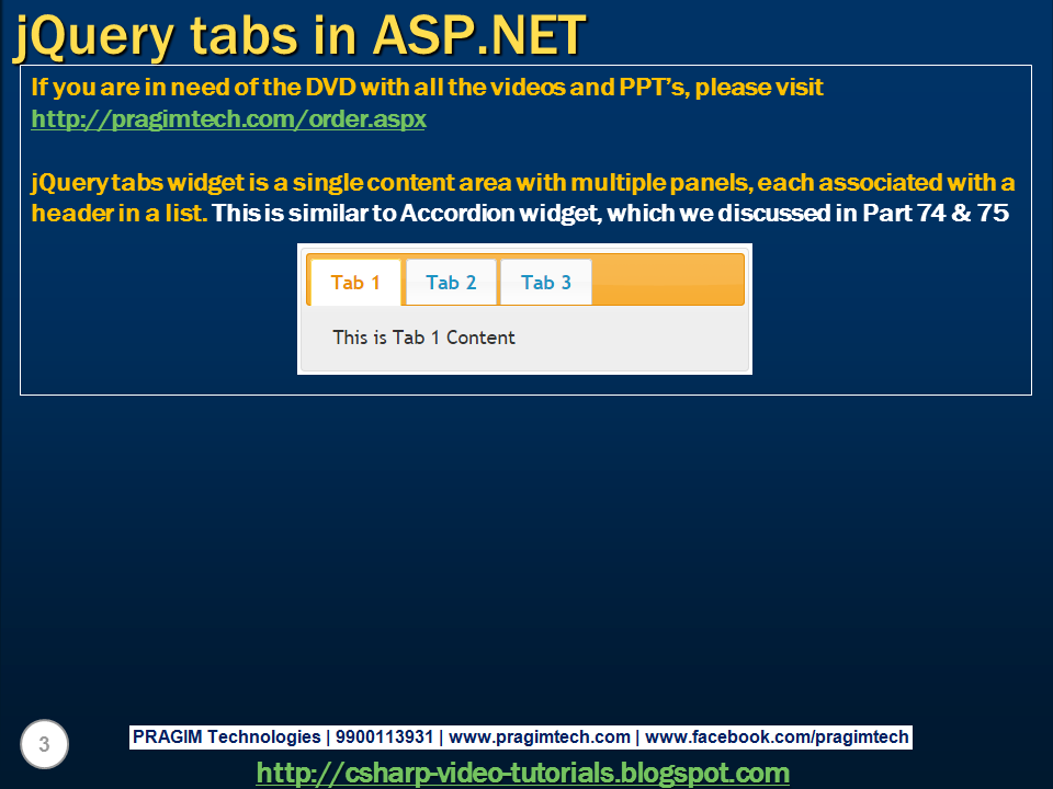 how to make tabs in asp net