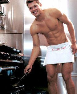 Sexy man in apron