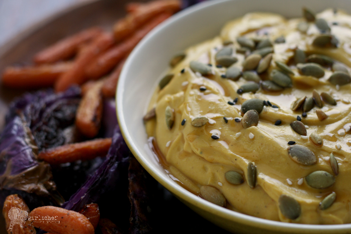 Roasted Buttercup Squash & Tahini-Yogurt Dip