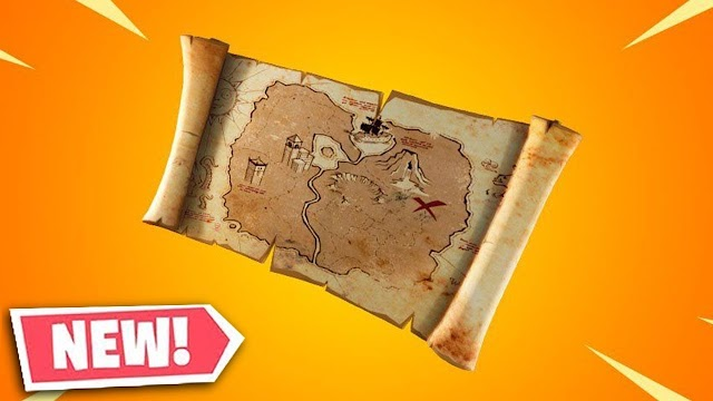 The treasure element buried near Fortnite Battle Royale