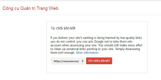 Làm sao xóa liên kết xấu đến website mình '' backlink xấu''