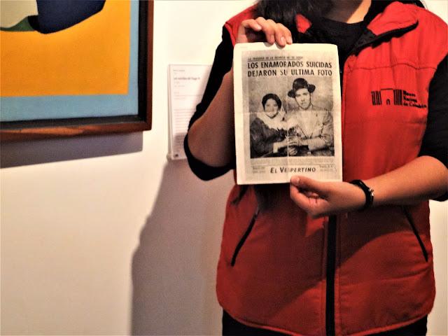 自殺したコロンビア人カップルの新聞掲載記事|コロンビア国立博物館