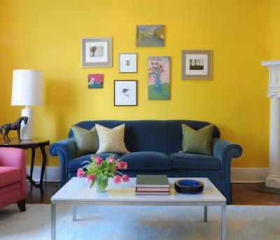 warna cat dinding interior rumah cerah terbaru
