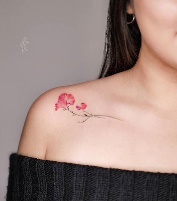 tatuagens de flores para as meninas