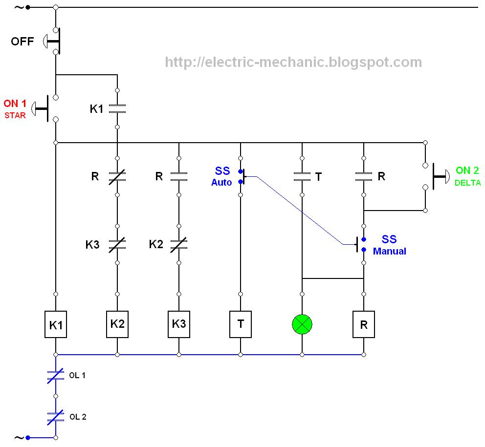 Manual Star Delta Starter Wiring Diagram