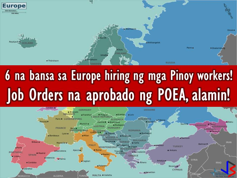 POEA Approved Jobs to 6 Countries in Europe This June 2018