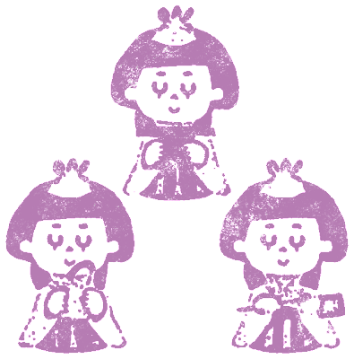 三人官女・キャラクター ... : クリスマス 飾り 印刷 : 印刷