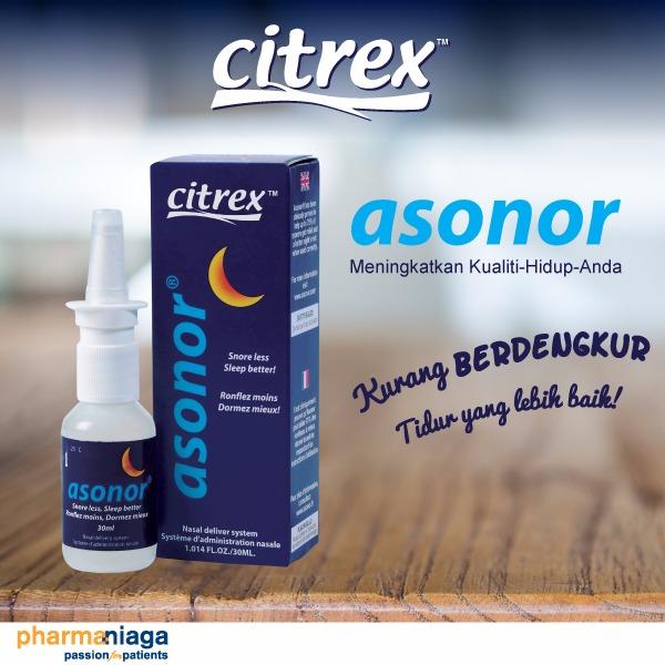 citrex asonor, tips cegah dengkur, gangguan tidur, tips atas dengkur, asonor, bahaya dengkur,