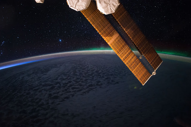Earth, Aurora and the International Space Station