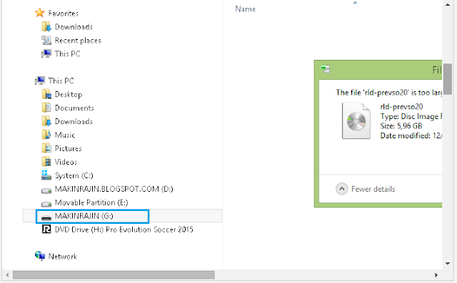 Cara Membuat Flashdisk Bisa di Copy File Berukuran Lebih dari 4 GB