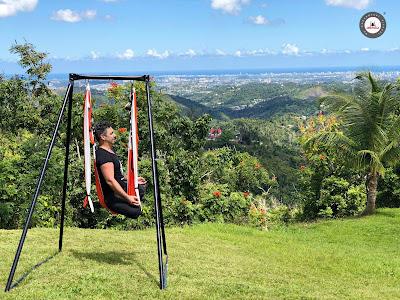 yoga, aeroyoga, aerial yoga, air yoga, fly, flying, columpio, gravity, swing, trapeze, clases, cursos, aire libre, naturaleza, viajes, puerto rico, tutorial