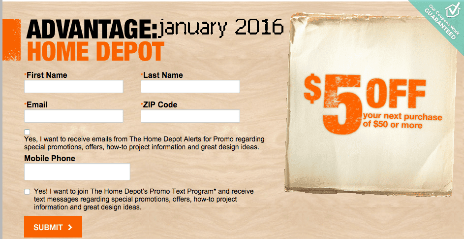 at home coupons 2016 free printable coupons home depot coupons 10373