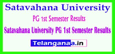 Satavahana University PG 1st Semester Results