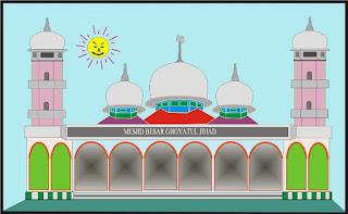 Gambar Kartun Masjid Cantik dan Lucu 201710