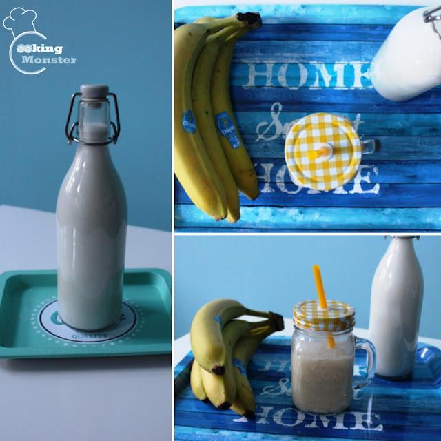 Domowe mleko kokosowe + szybki koktajl bananowy