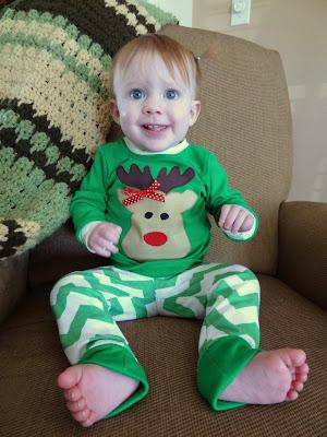 Reindeer Pajama Pattern