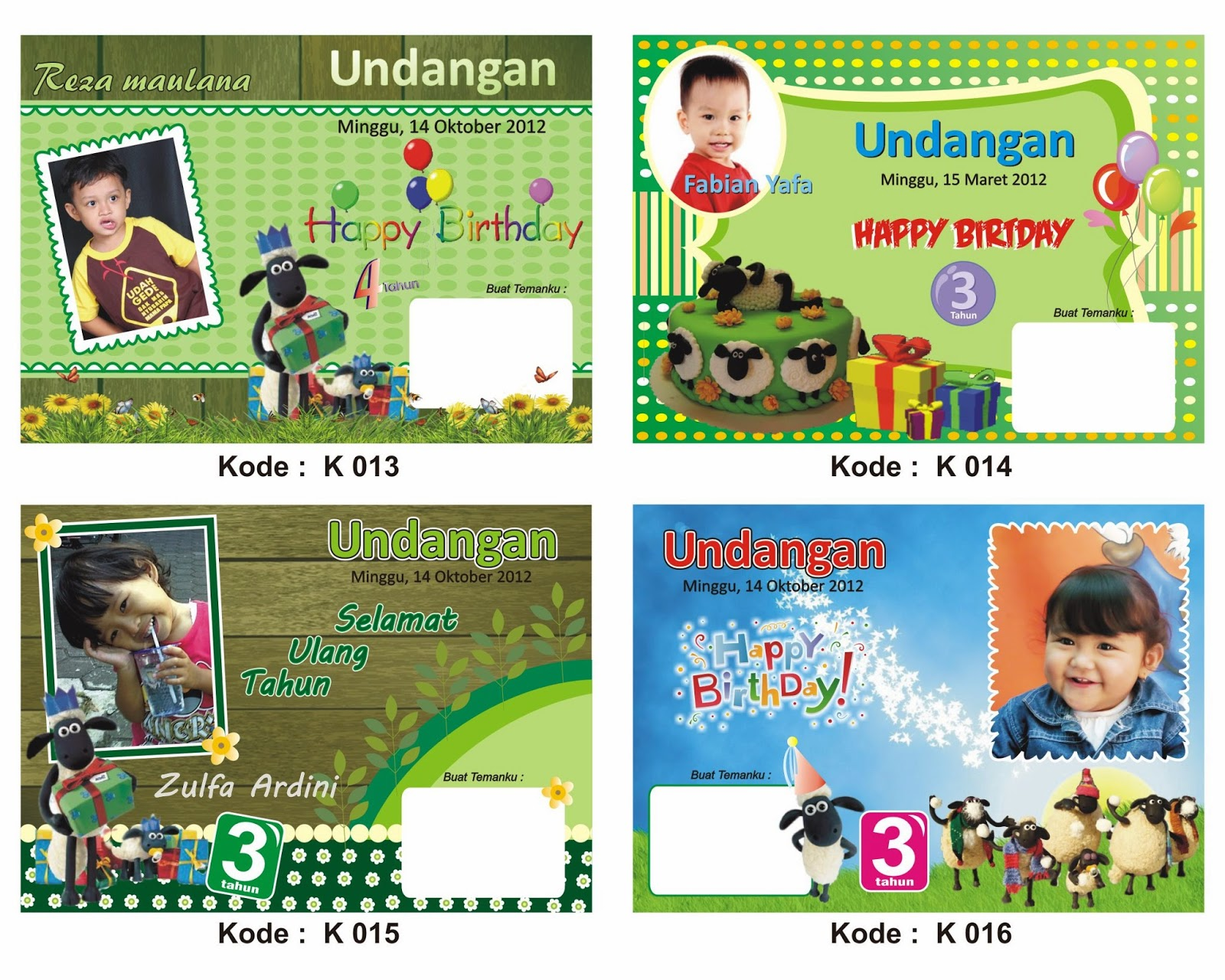 Jual Template Background Undangan Ultah 0813 3519 7828