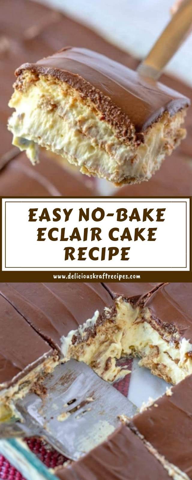 EASY NO-BAKE ECLAIR CAKE RECIPE