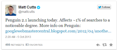 Penguin 5, With The Penguin 2.1 Spam-Filtering Algorithm, Is Now Live