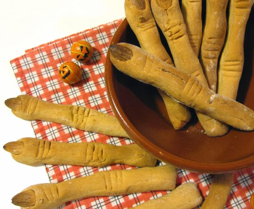 Dedos de bruja receta Halloween