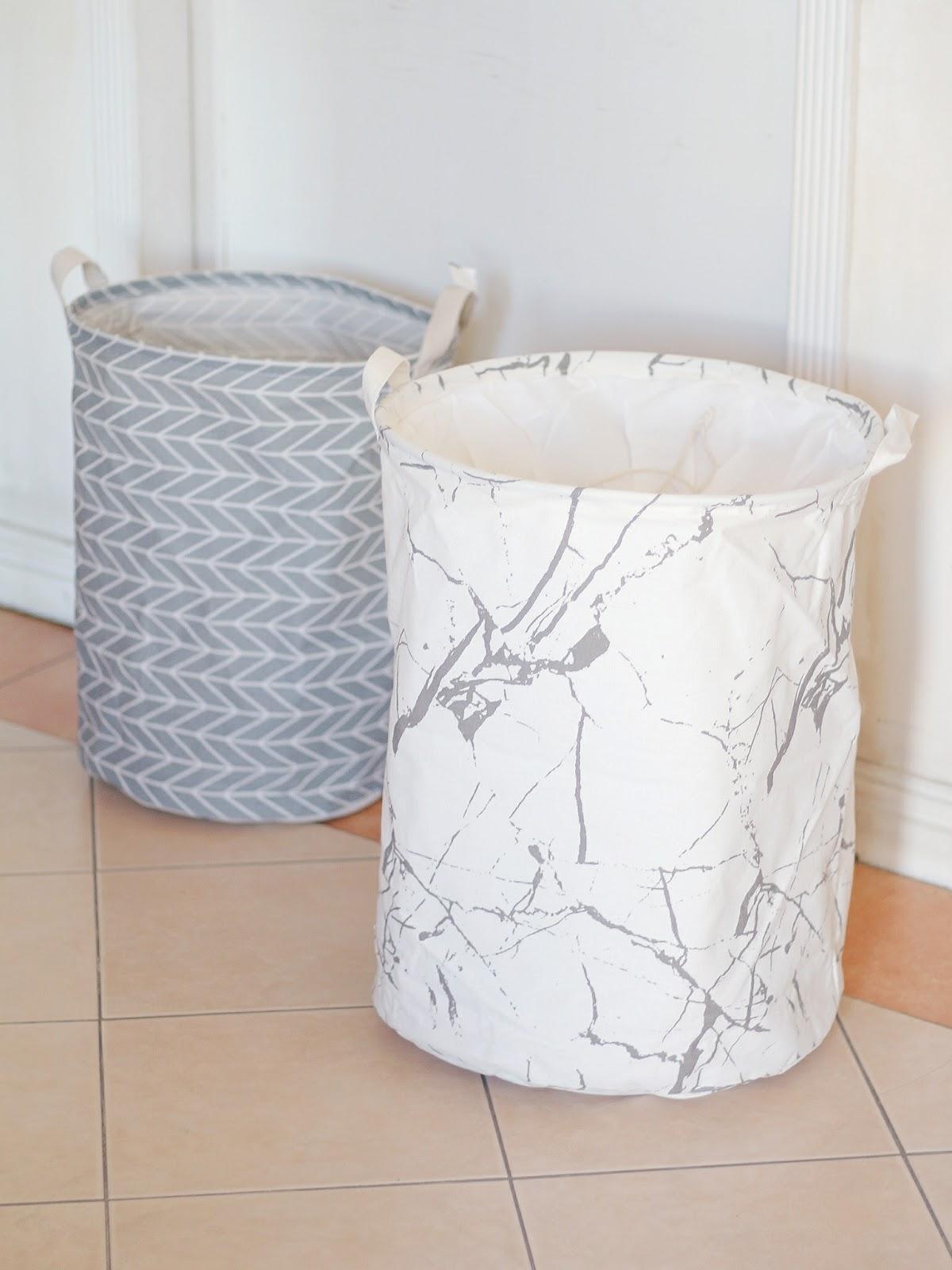 Marble Laundry Hamper Maj Valencia Home