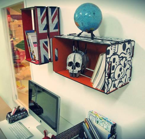 reutilizar caixotes de madeira escritorio home office nicho