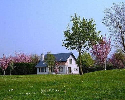 House and Garden in the Springtime