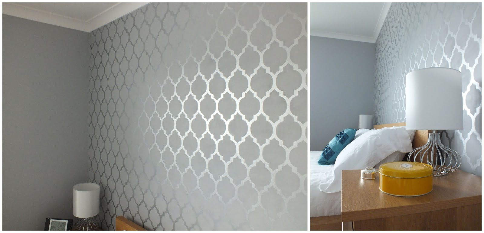 Diy wall stencil tutorial template life in eight for Paint templates for walls