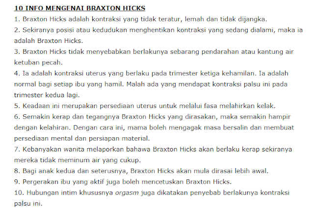 info braxton hicks