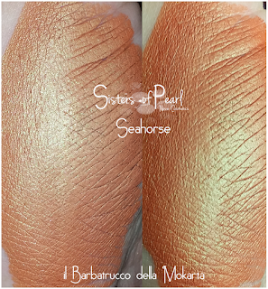 Seahorse swatches Sisters Of Pearl  Neve Cosmetics