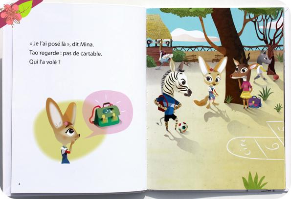 Collection Mes Premières Lectures Hachette : Tao et Mina - Le voleur de cartable