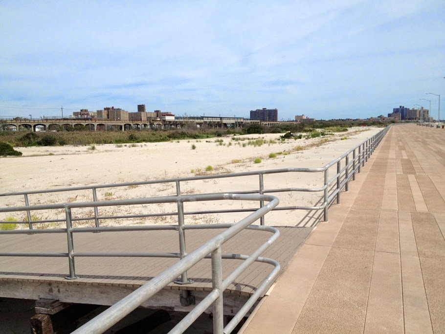Rockaway Boardwalk and adjacent abandoned neighborhood