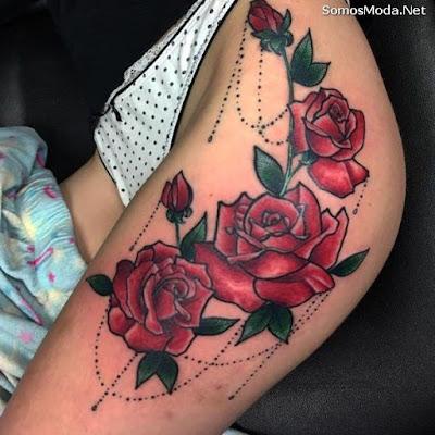 Tatuajes para mujeres en la pierna