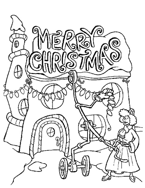 Whovilles Merry Christmas Lights Coloring Page