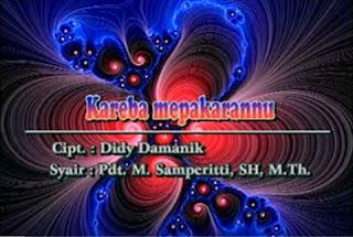 Lirik Lagu Toraja Kareba Mepakarannu (Nafiri Singers)