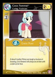 My Little Pony Coco Pommel, Caring Assistant Absolute Discord CCG Card