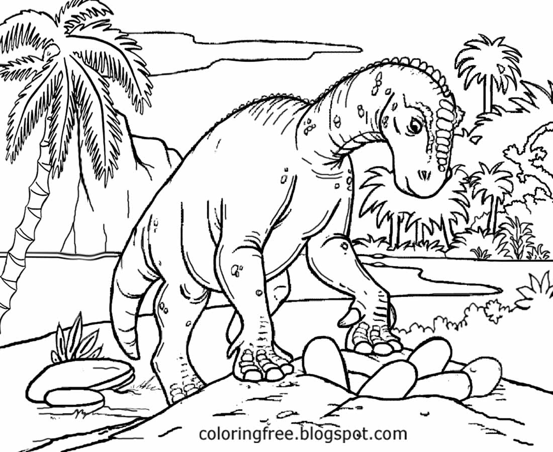 Tyrannosaurus Rex Prehistoric Lifelike Image Jurassic World Drawing Dinosaur Coloring Pages For Kids
