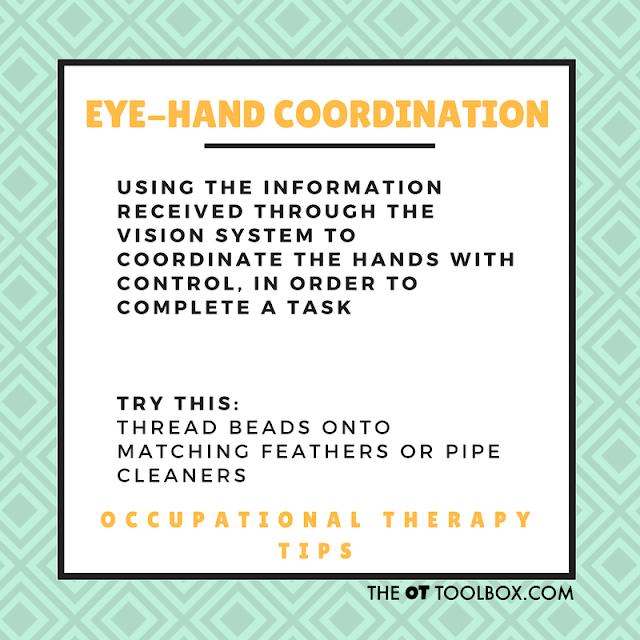 Eye-hand coordination activities